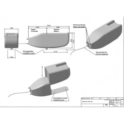 Trend 1.6S-P  Sähkö perämoottori 5 HP  integroitu litiumakku