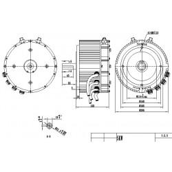Harjaton DC moottori 5 kW nestejäähdytys